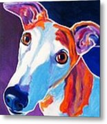 Greyhound - Halle Metal Print by Alicia VanNoy Call