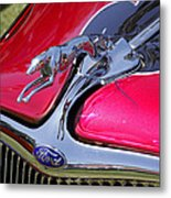 Greyhound On A Ford Metal Print