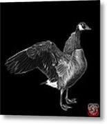Greyscale Canada Goose Pop Art - 7585 - Bb  Metal Print