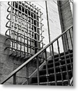 Grids Grit And Rails Metal Print