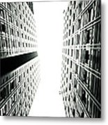 Grids Lines And Glass Structure - Google London Offices Metal Print