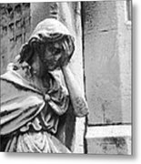 Grieving Statue Metal Print