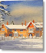 Griffin House School - Snowy Day Metal Print