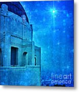 Griffith Park Observatory At Night Metal Print