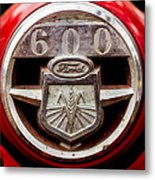 Grill Logo Detail - 1950s-vintage Ford 601 Workmaster Tractor Metal Print