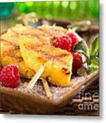 Grilled Pineapple  Metal Print