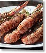 Grilled Prawns Croatia Metal Print