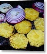 Grilled Veggies #1 Crop 2 Metal Print
