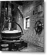 Grinder For Unmalted Barley In An Old Distillery Metal Print