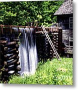 Grist Mill And Water Trough Metal Print
