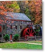 Grist Mill In Autumn Metal Print