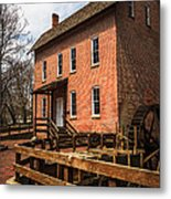 Grist Mill In Hobart Indiana Metal Print by Paul Velgos