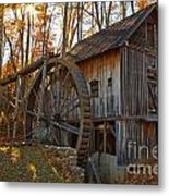 Grist Mill With A Golden Glow Metal Print