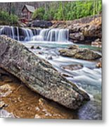Gristmill At The Creek Metal Print
