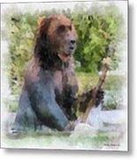 Grizzly Bear Photo Art 01 Metal Print