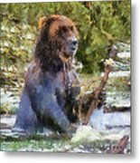 Grizzly Bear Photo Art 02 Metal Print