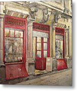 Grocery Store In Old Town Metal Print