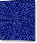 Mandala Blue Marvel Metal Print