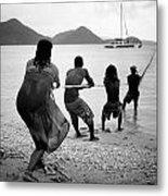 Gros Islet Fishermen Metal Print