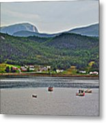 Gros Morne Mountain Over Bonne Bay At Norris Point In Gros Morne Np-nl Metal Print