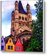 Gross St. Martin In Cologne Germany Metal Print