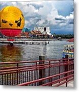 Grounded By The Storm Balloon Ride Walt Disney World Metal Print