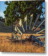 Grounded Windmill Metal Print