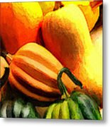 Group Of Gourds Metal Print