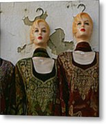 Group Of Mannequins In A Market Stall Metal Print