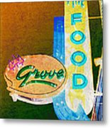 Grove Fine Food Var 3 Metal Print