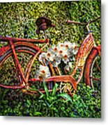 Growing In The Garden Metal Print