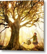 Growing Up Is Made Of Small Things Metal Print