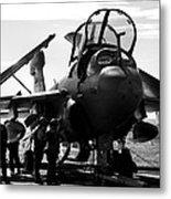 Grumman Ea-6b Prowler B-w Metal Print