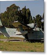 Grumman Hu-16 Albatros Of The Hellenic Metal Print