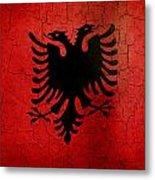 Grunge Albania Flag Metal Print