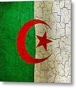 Grunge Algeria Flag Metal Print