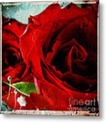 Grunge And Roses Metal Print by Sharon Coty