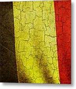 Grunge Belgium Flag Metal Print