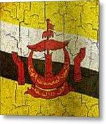 Grunge Brunei Flag Metal Print