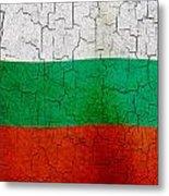Grunge Bulgaria Flag Metal Print