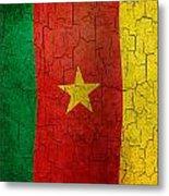 Grunge Cameroon Flag Metal Print