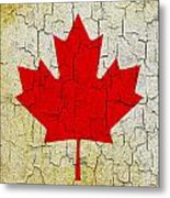 Grunge Canada Flag Metal Print