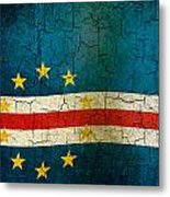 Grunge Cape Verde Flag Metal Print