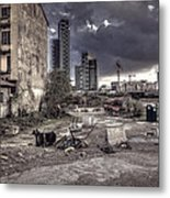 Grunge Cityscape Metal Print