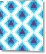 Grunge Colorful Abstract Geometric Metal Print