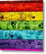 Grunge Colorful Wood Planks Background Metal Print