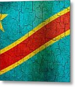Grunge Democratic Republic Of The Congo Flag Metal Print