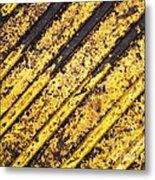 Grunge Dirty Yellow Texture Metal Print