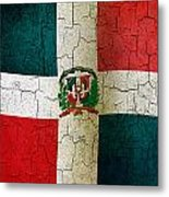 Grunge Dominican Republic Flag Metal Print