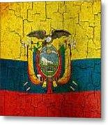 Grunge Ecuador Flag Metal Print